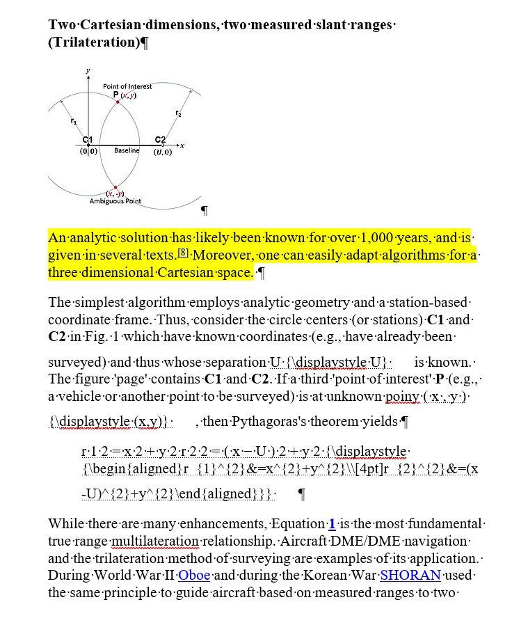 Trilateration Algorithm