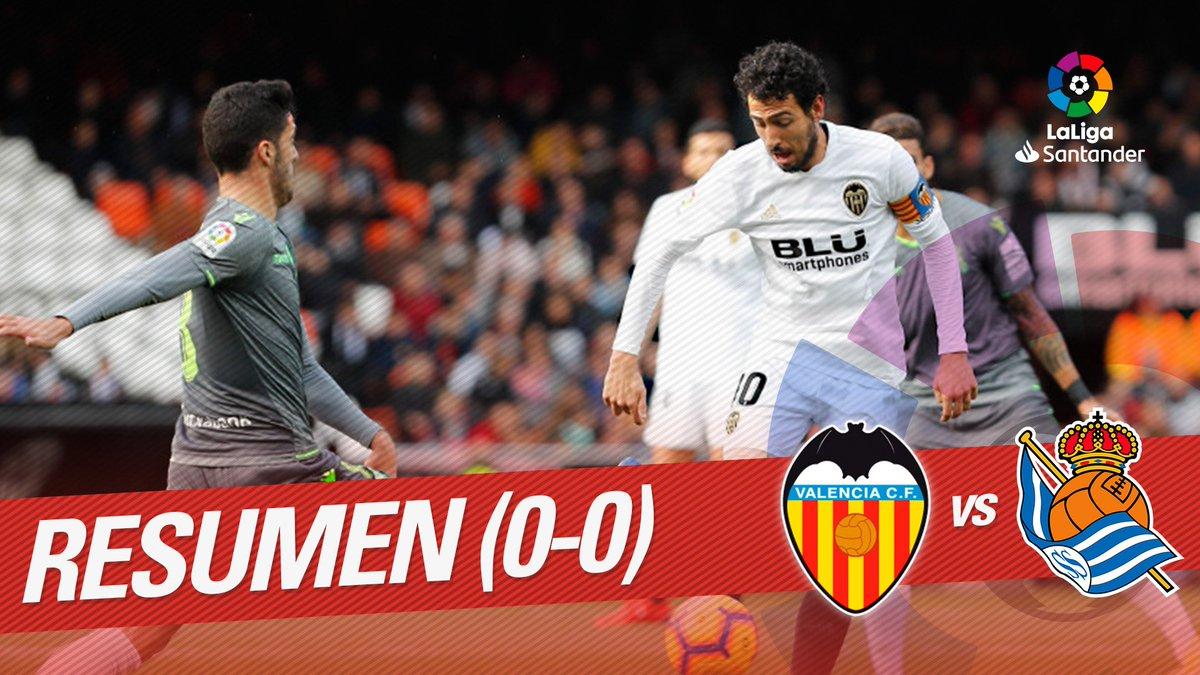 ⚡️⚽️ RESUMEN #ValenciaRealSociedad  ⚔️ @valenciacf y @RealSociedad no pudieron pasar del empate a cero en Mestalla  👀 Lo mejor del partido 👉🏻 https://youtu.be/G_8uJuWk28s  #beINLaLiga