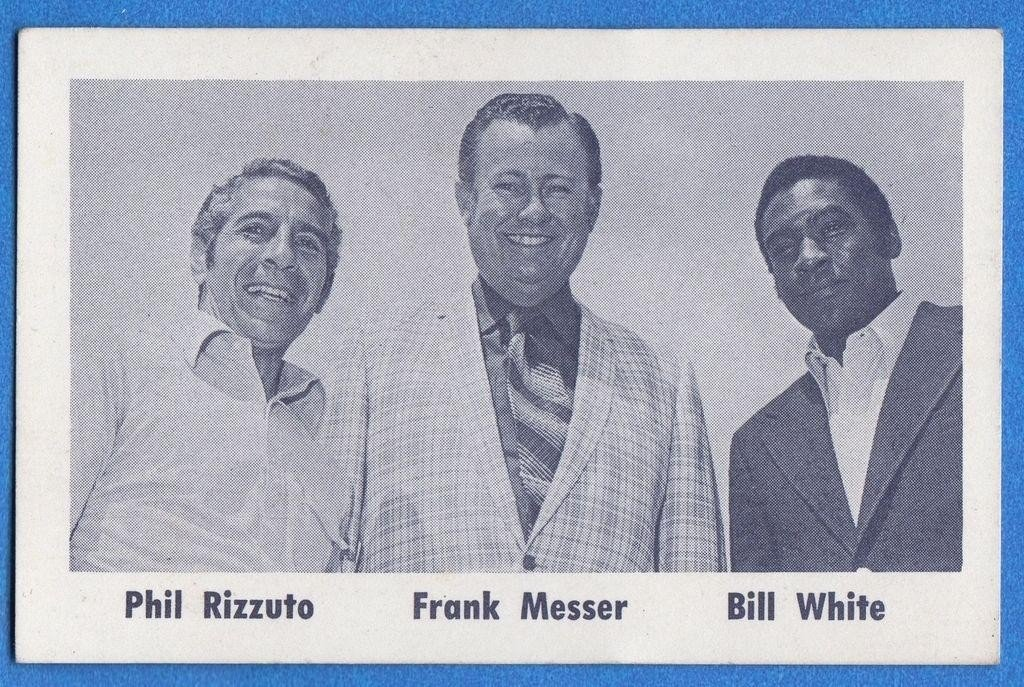 """1970s Baseball on Twitter: """"OTD in 1971, WPIX-TV in New York hired Bill White as the first black play by play announcer in MLB history. White teamed with Phil Rizzuto and Frank"""