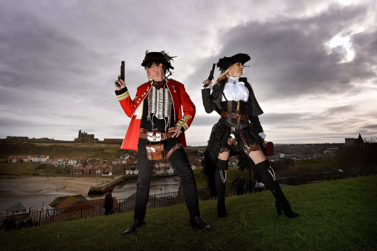 Stand and deliver..The wonderful Whitby Steampunk weekend @yorkshirepost @gazetteinwhitby @YPinPictures @TheScarboroNews #steampunk #whitby #photography #yorkshire