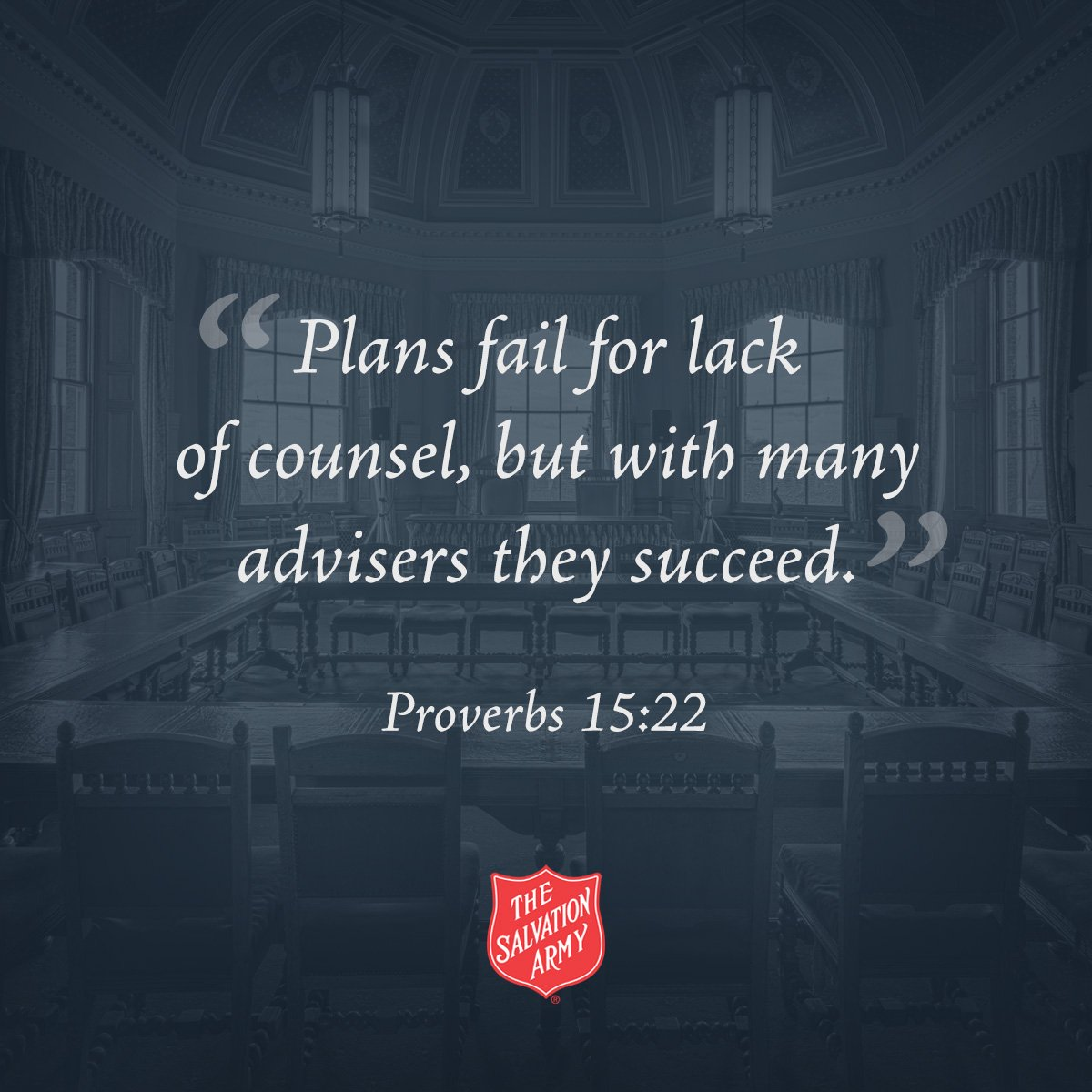 """Proverbs 15:22, """"Plans fail for lack of counsel, but with many advisors they succeed."""" #SundayInspiration"""