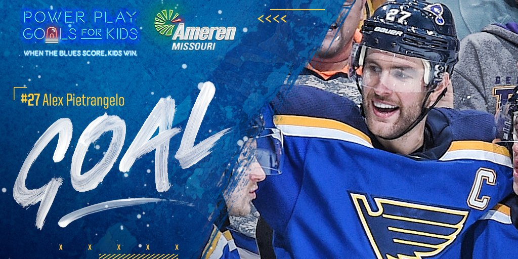 St Louis Blues On Twitter Blues Goal Alex Pietrangelo Snaps One Past Juuse Sarros And The Blues Lead 1 0 On A Power Play Goal Stlblues