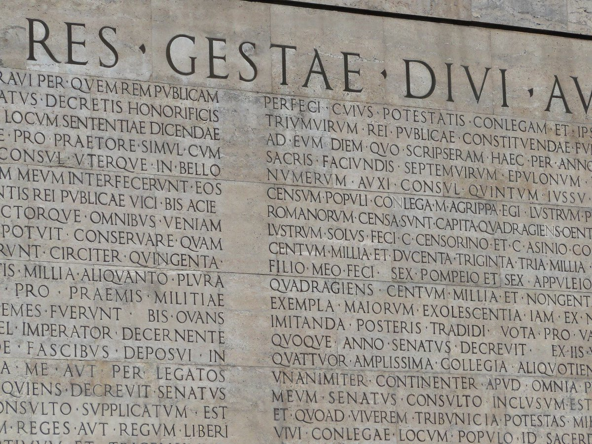 I've recently been teaching a lot about imperial inscriptions and tried to convince my students that the concept of #FakeNews really does come into play with many of them. A good part of the skill in handling inscriptions is being able to read between the lines. #Rome