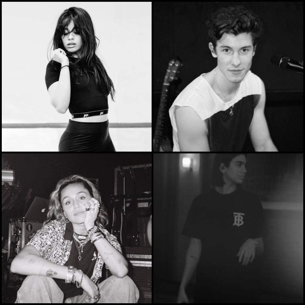 We can't wait to see @Camila_Cabello @ShawnMendes @MileyCyrus & @DUALIPA perform at the #GRAMMYs tonight!