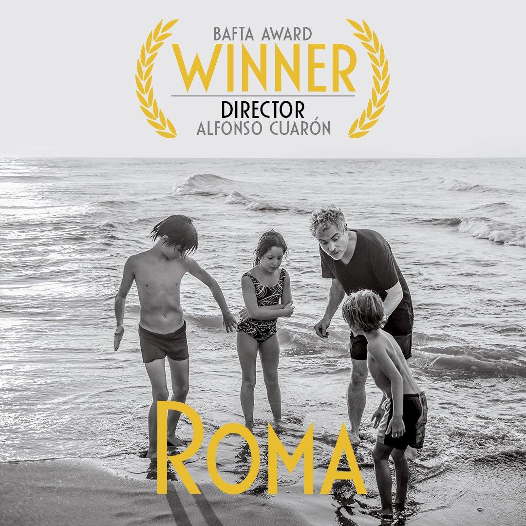 #AlfonsoCuaron recebe o #BAFTA de melhor direção pelo seu trabalho autoral #Roma #EEBAFTAs o grande prêmio do cinema britânico #BaftaAwards