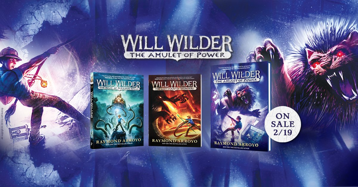 Start an adventure with the whole family. Will Wilder 3: The Amulet of Power releases 2/19. Pre-order now, get the whole series, and read excerpts here: https://t.co/AloQCZHdjP https://t.co/w17U4jSCtF