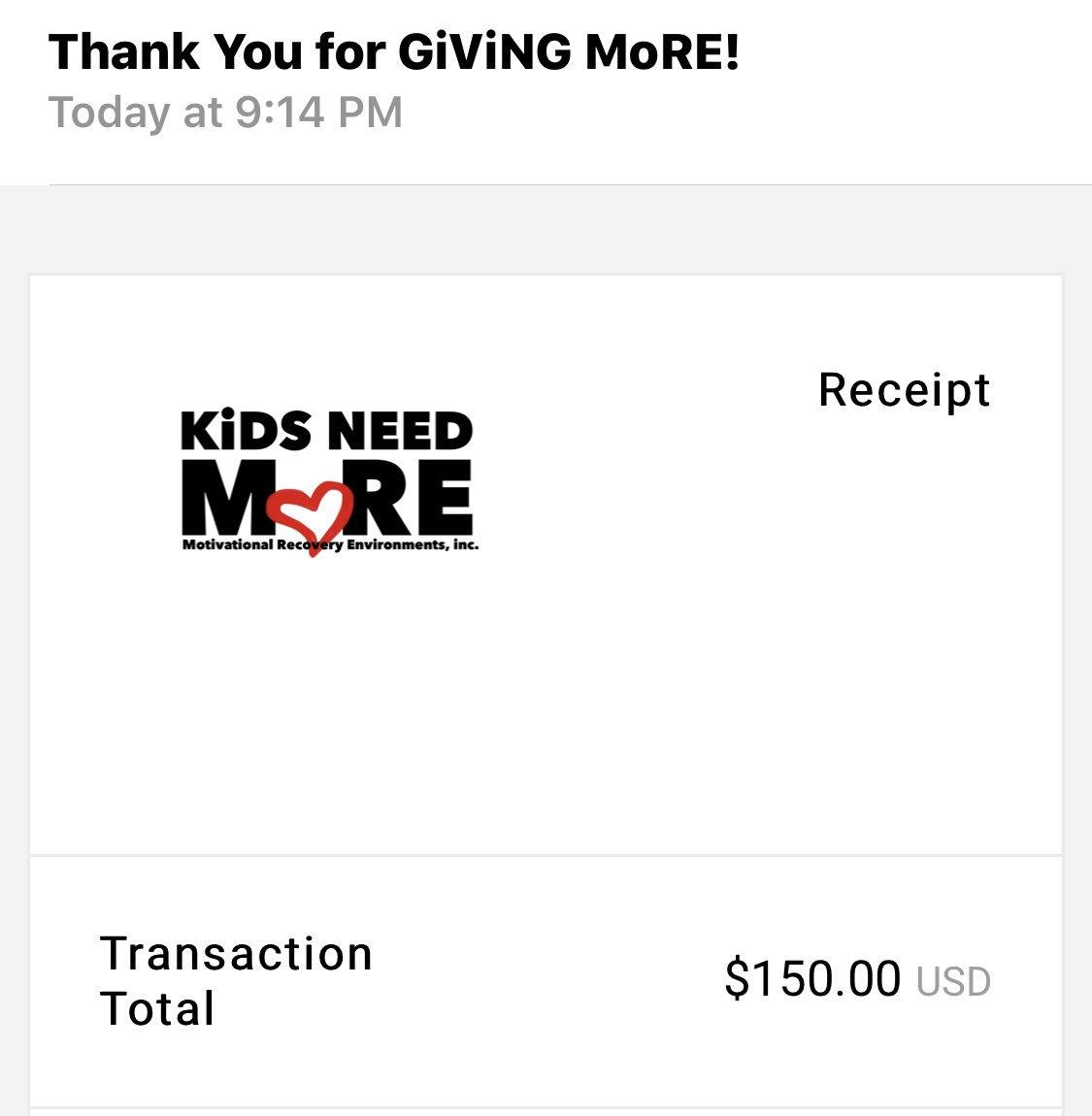 #breaking we have raised $150 for the @kidsneedMOREorg !!!  sndblog #sndpodcast #blog #podcast #sndpodcastchannel #fucancer #kidsneedmore #childhoodcancerawareness #morethan4 ##kidsgetcancertoo pic.twitter.com/zlwMu3VqsB