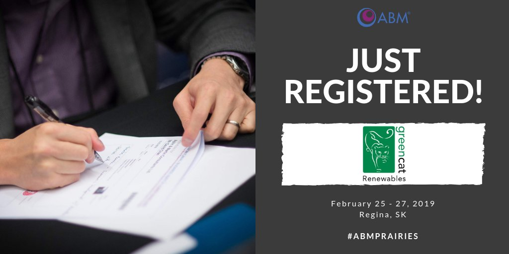 With expertise in development of renewable projects, @GreenCatCanada is a specialist renewable energy consultancy. They are attending #ABMPrairies with hopes of creating new business relationships! Are you interested in connecting with them? Register at: http://ow.ly/MSqF30nvpc7