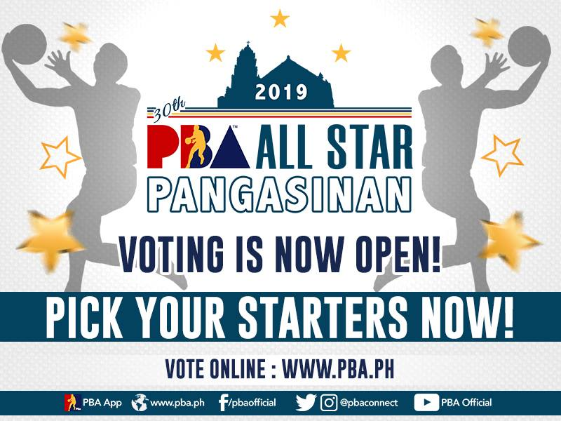 PBA: The 2019 PBA All Star VOTING is on!  ⬇️ VOTE your starting 5 now ⬇️ https://t.c...
