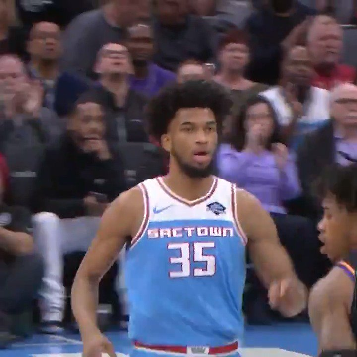 #NBARooks x #SacramentoProud  Marvin Bagley III drops in a career-high 32 points to fuel @SacramentoKings at home!