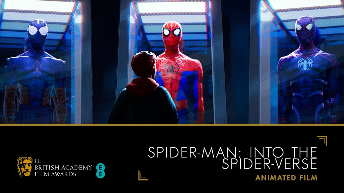 Congratulations to Spider-Man: Into The @SpiderVerse for picking up the Animated Film award 🕷🏆 #EEBAFTAs #BAFTA