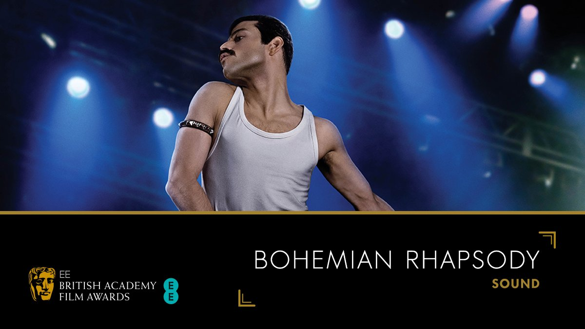 Well done to the @BoRhapMovie team for their win in the Sound category! 🔊🎤 #EEBAFTAs #BAFTA