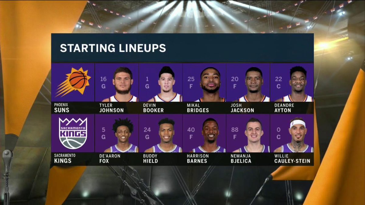 Another new starting lineup for the @Suns today. #Suns at #Kings starts NOW on FSAZ and the FOX Sports app.