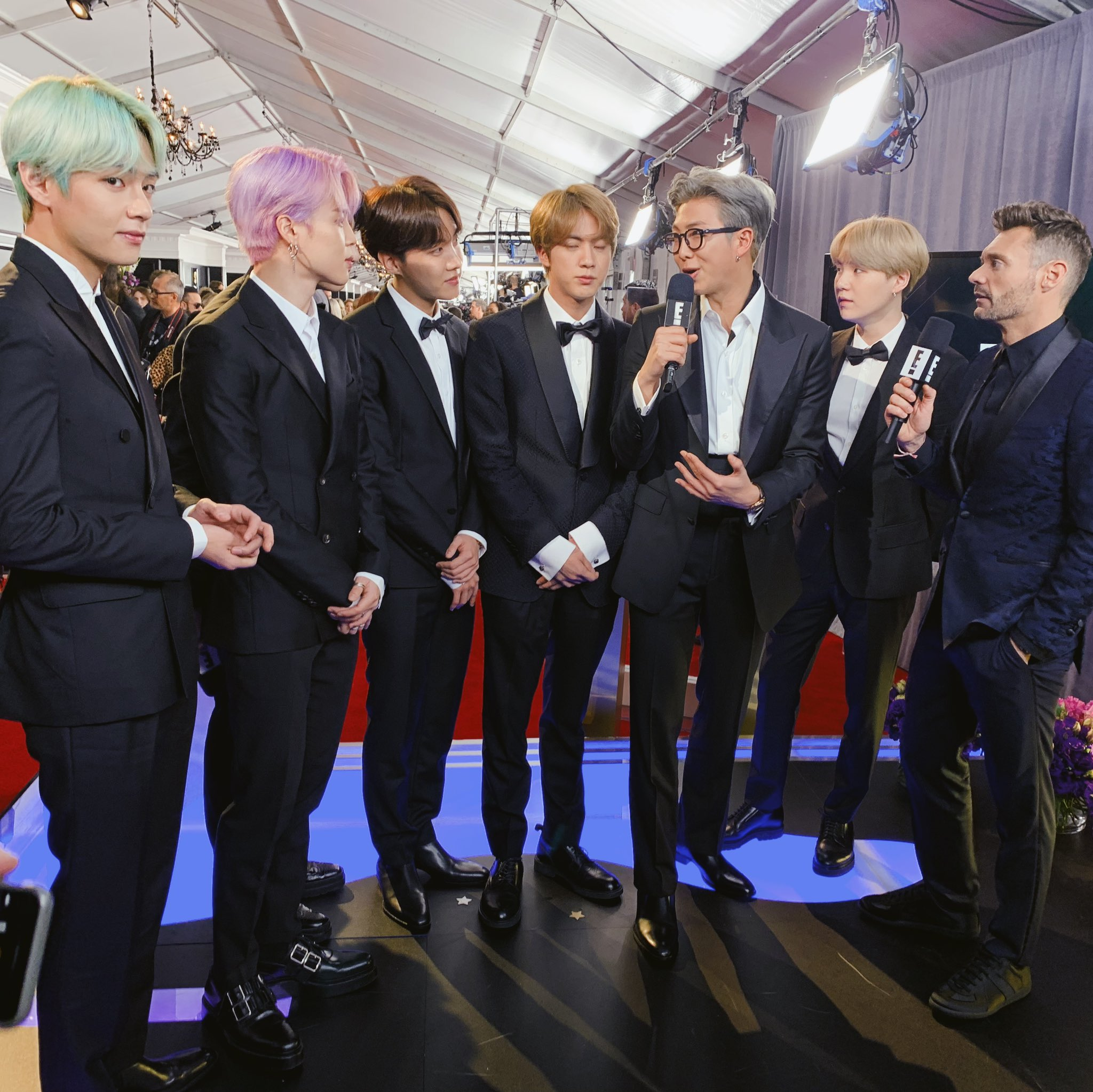 .@BTS_TWT's first #Grammys! It's all part of their global takeover. Welcome! #ERedCarpet #BTSARMY #BTSxGrammys https://t.co/zBRt1SKFq3