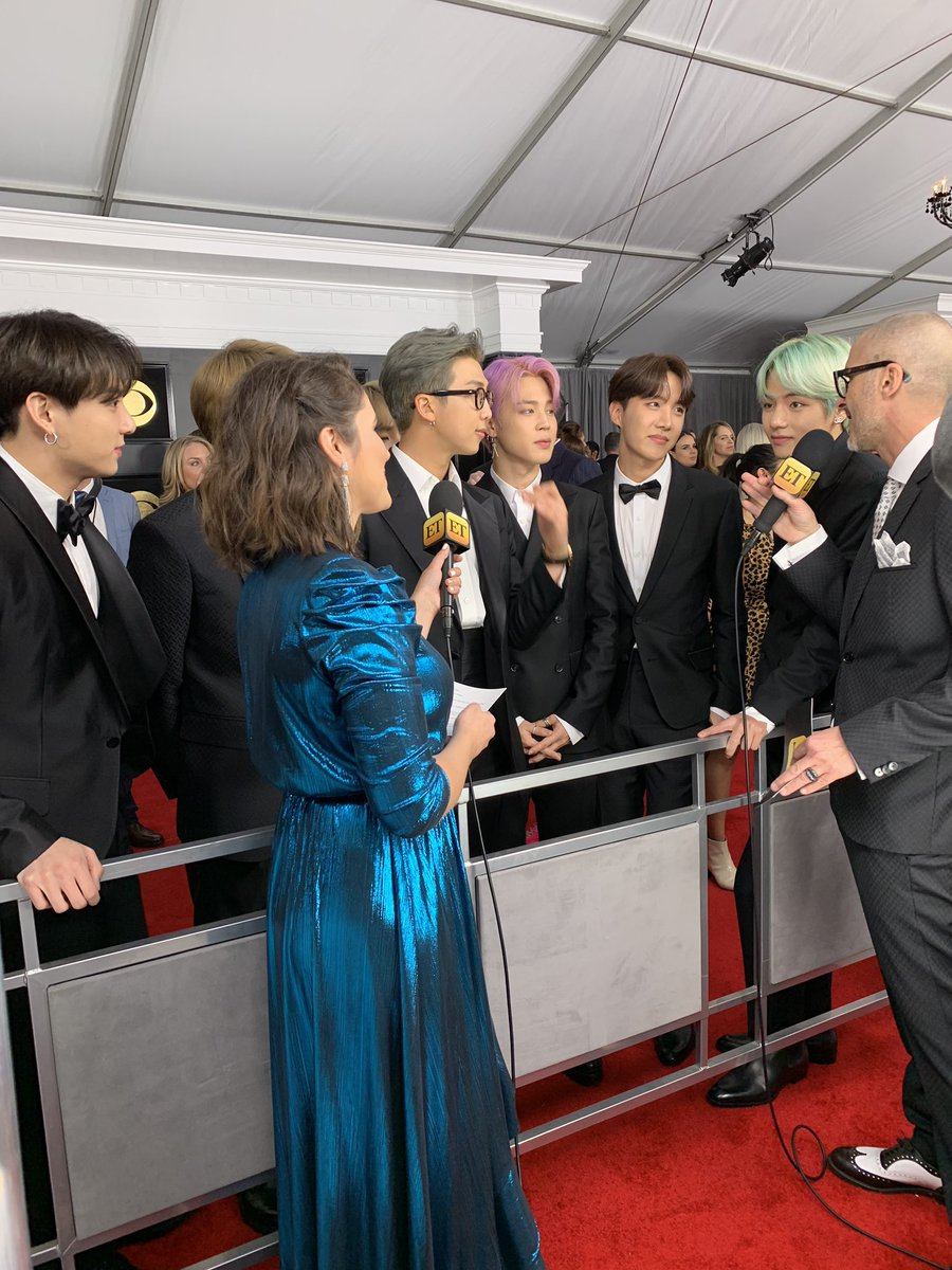 BTS IS FINALLY HERE!!!! #GRAMMYs #TearItUpBTS 🥰🥰🥰🥰