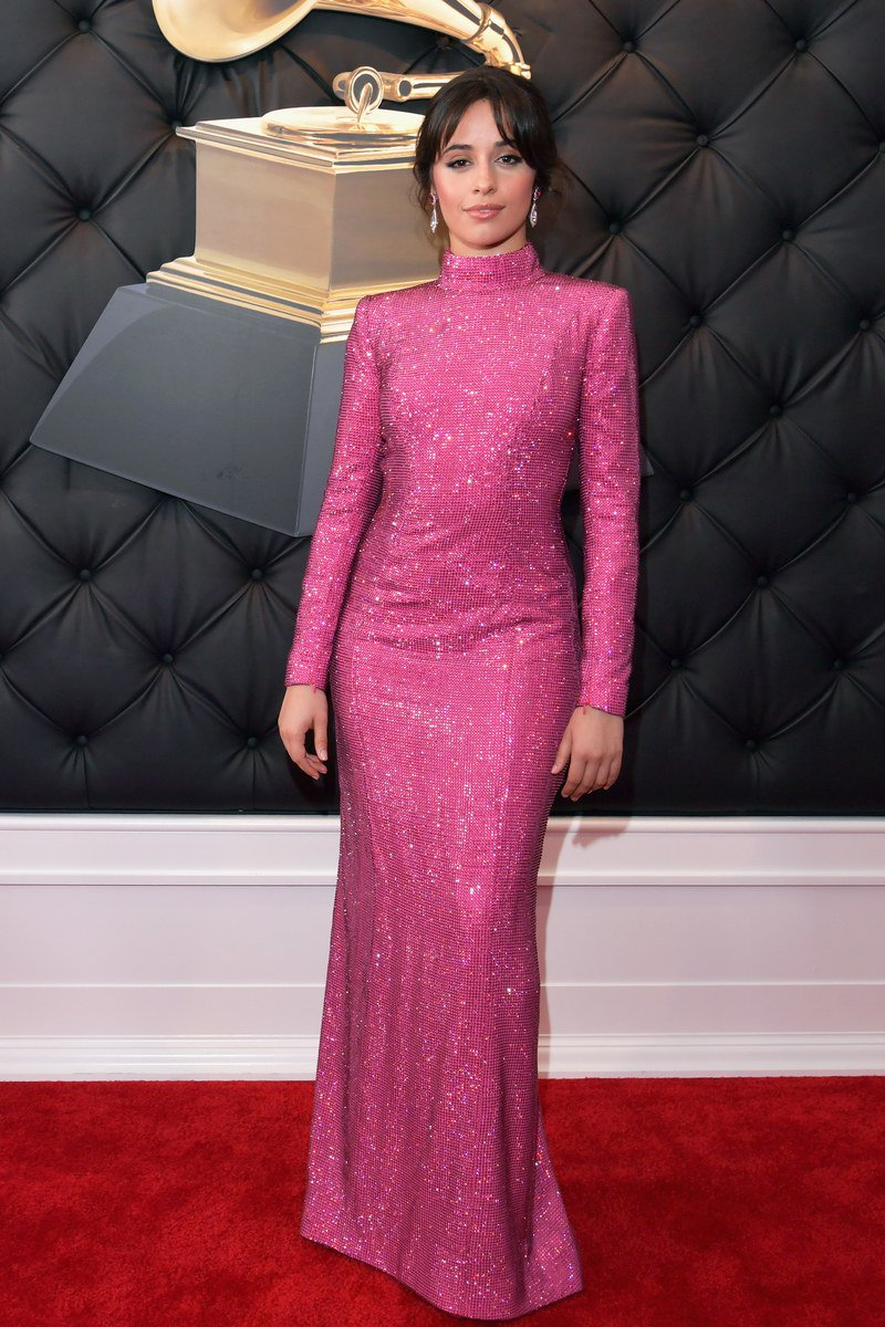 .@camila_cabello sparkles in pink at the #Grammys. https://t.co/zJjb5n2fwp https://t.co/7xxUwBbFAv