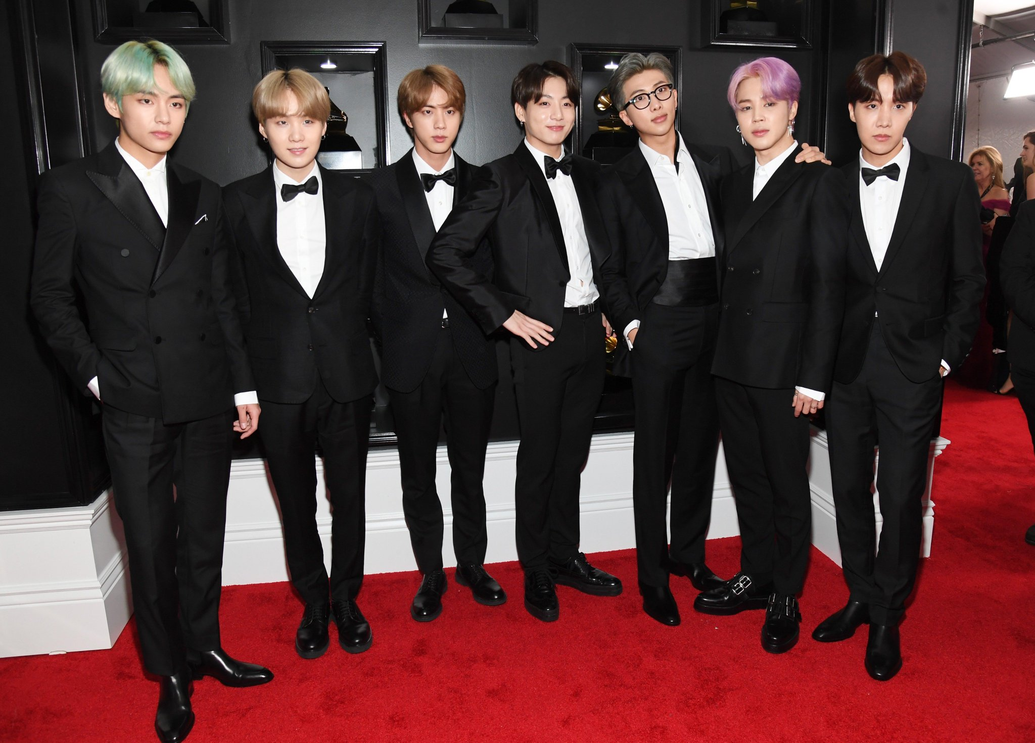 �� @BTS_twt HAS ARRIVED PEOPLE �� #GRAMMYs https://t.co/YmP46fSYPO