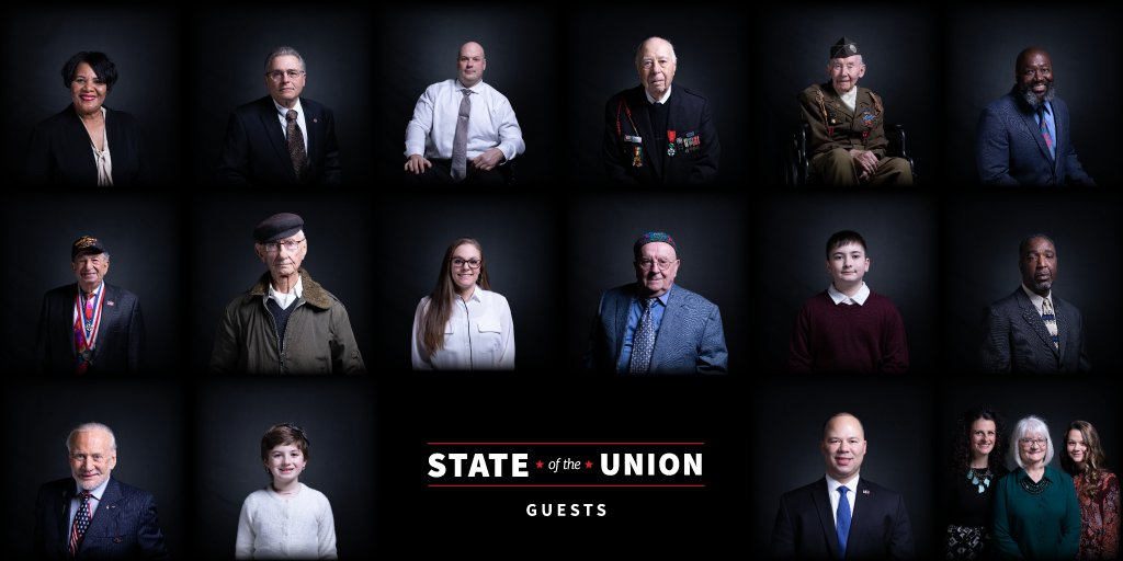 """""""We do the incredible. We defy the impossible. We conquer the unknown.""""   A look back at the special guests who joined @realDonaldTrump and @FLOTUS at the 2019 State of the Union Address: http://45.wh.gov/rS8EmM"""
