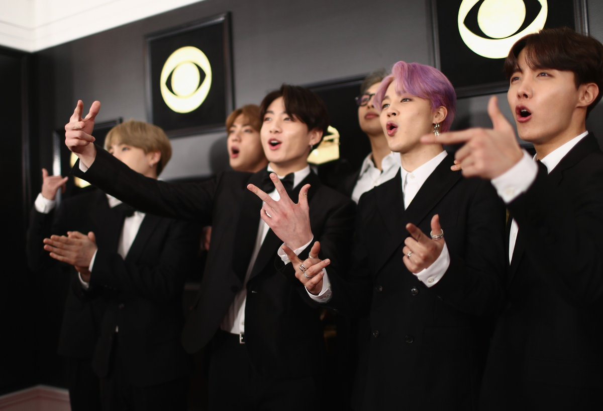 Our boys looking absolutely STUNNING on the #GRAMMYs red carpet! ❤️ @BTS_twt #TearItUpBTS