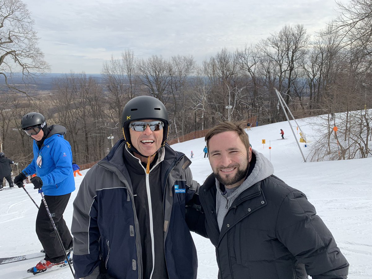Not golf weather so Adam and I hit the slopes. He snowboards. I ski. It's a generational thing. @scoopgordon @MichaelGordonTV   @ChrisGordonNews