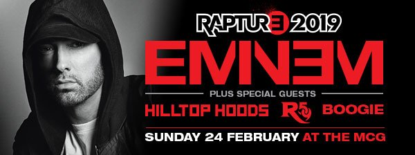 🗣️Introducing the full roster of extraordinary talent, personally curated by @Eminem himself:  💥 @hilltophoods     💥 @Royceda59   💥 @WS_Boogie     🎟️Final tickets:https://bit.ly/2tfDWXa or head over to our Instagram to WIN tickets: https://bit.ly/2DtJsdn