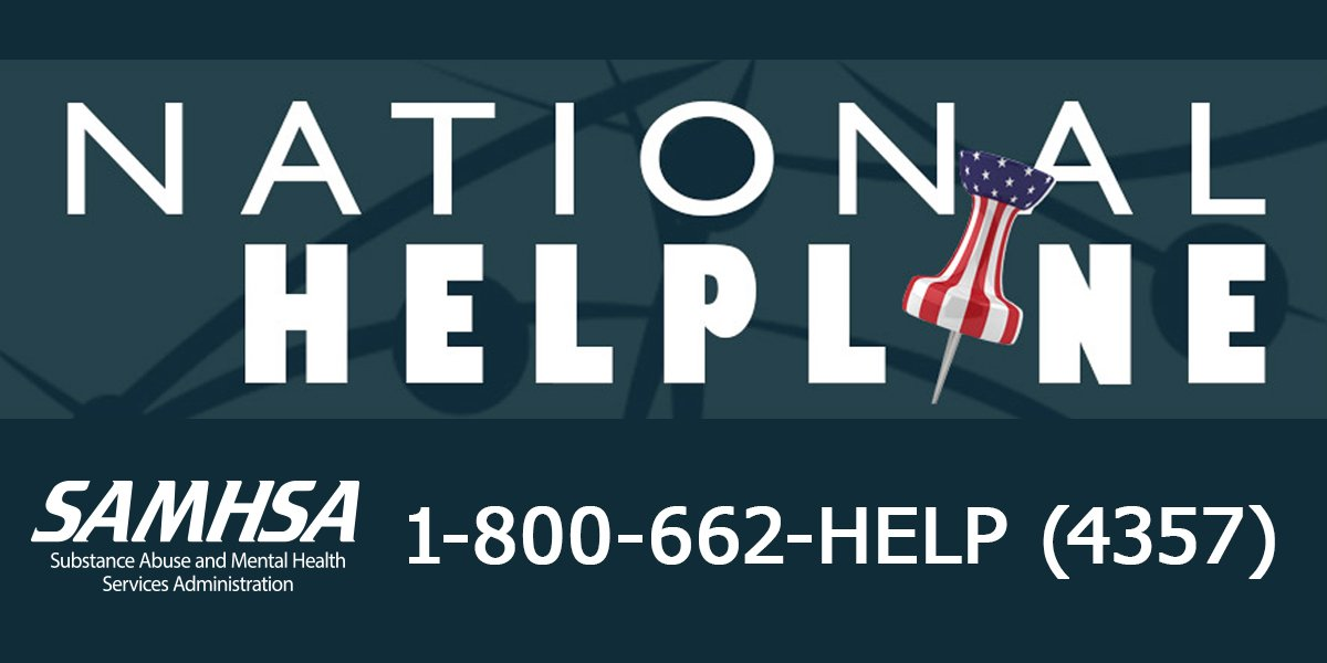 National Helpline Samhsa Substance Abuse And Mental Health >> Samhsa On Twitter No One Has To Go Through Difficult Times Alone