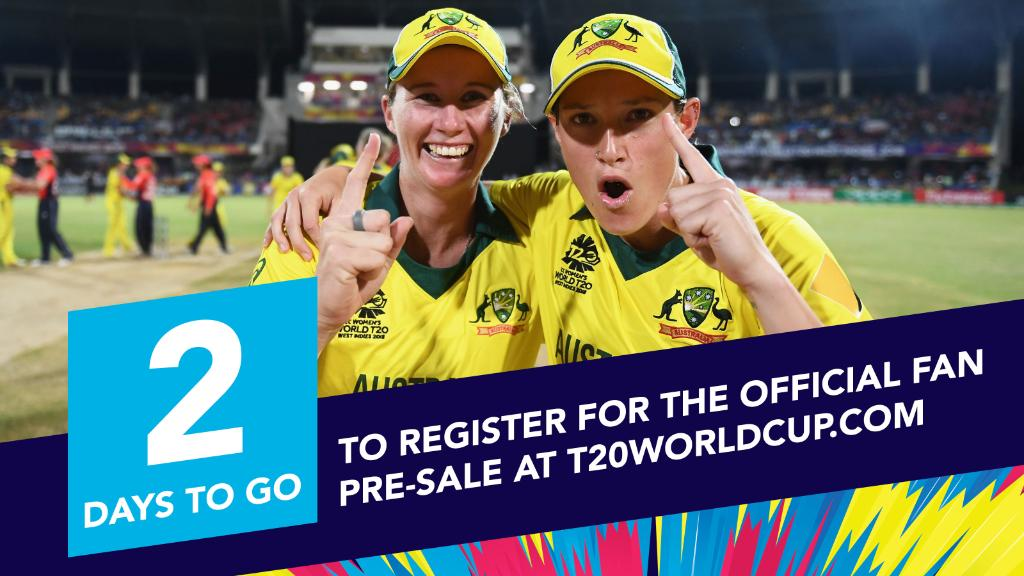 1️⃣➕1️⃣ = 2️⃣ days to go until the end of the official fan pre-sale.  Don't miss out on early access to the best seats to the ICC Women's T20 World Cup!  ➡ http://www.T20WorldCup.com