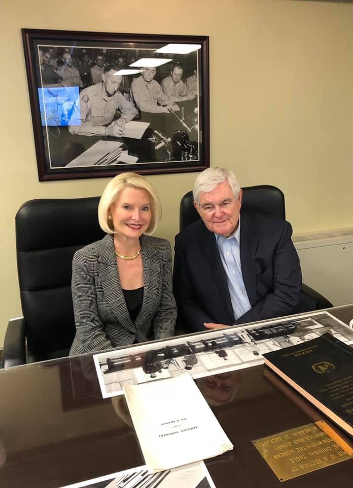 .@CallyGingrich and I enjoyed our visit to the Joint Security Area and the opportunity to meet with some of our remarkable US troops.  https://t.co/wIz3bPeQyS
