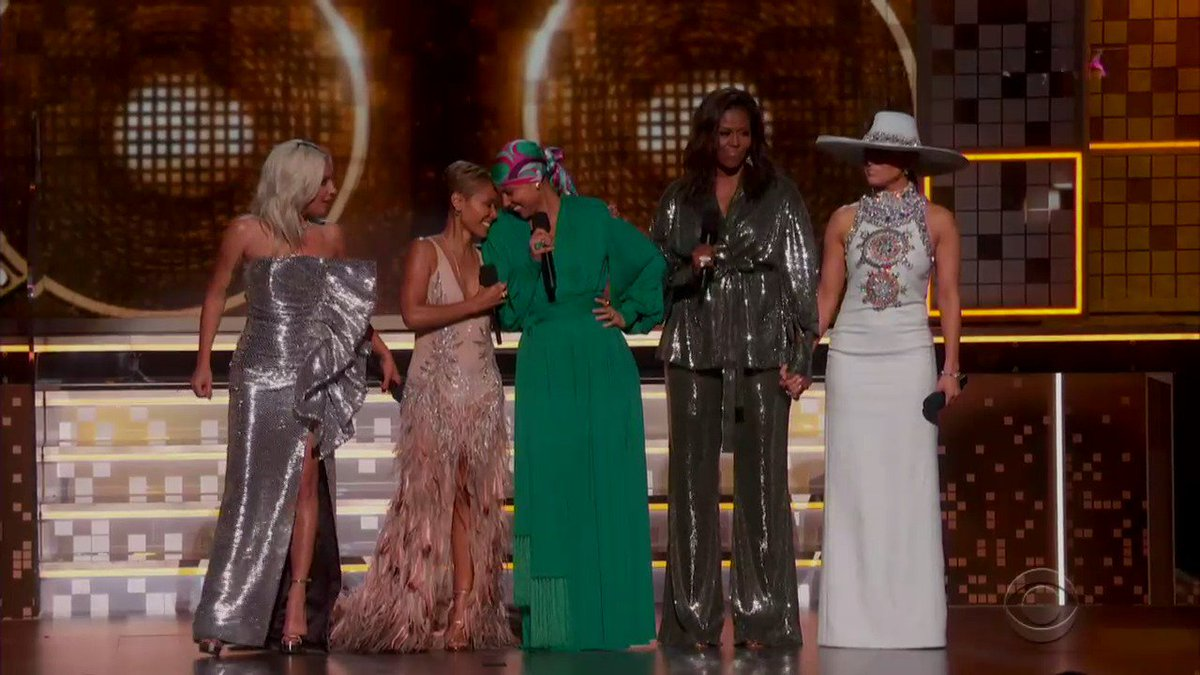 Michelle Obama at the #GRAMMYs: 'Whether we like country or rap or rock, music helps us share ourselves, our dignity and sorrows, our hopes and joys. It allows us to hear one another, to invite each other in.'