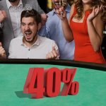 Image for the Tweet beginning: 40% of the @AliveCasino profits