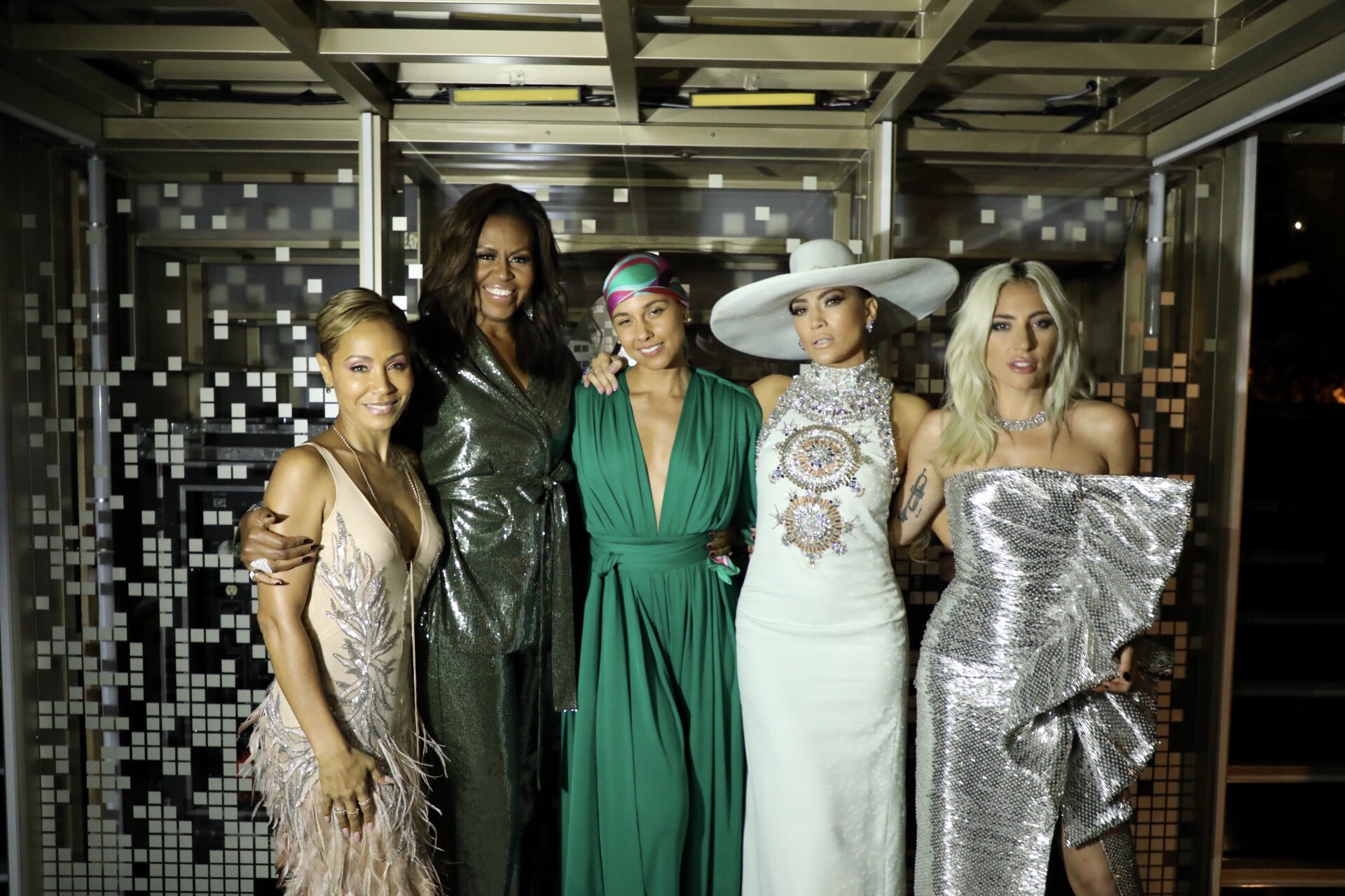 Michelle Obama @MichelleObama A big part of friendship is showing up for your girls—that's why I was thrilled to be there for the one and only @aliciakeys at the #GRAMMYs. She is one of the most genuine and thoughtful people I know—there's no one better to help us all celebrate the unifying power of music!