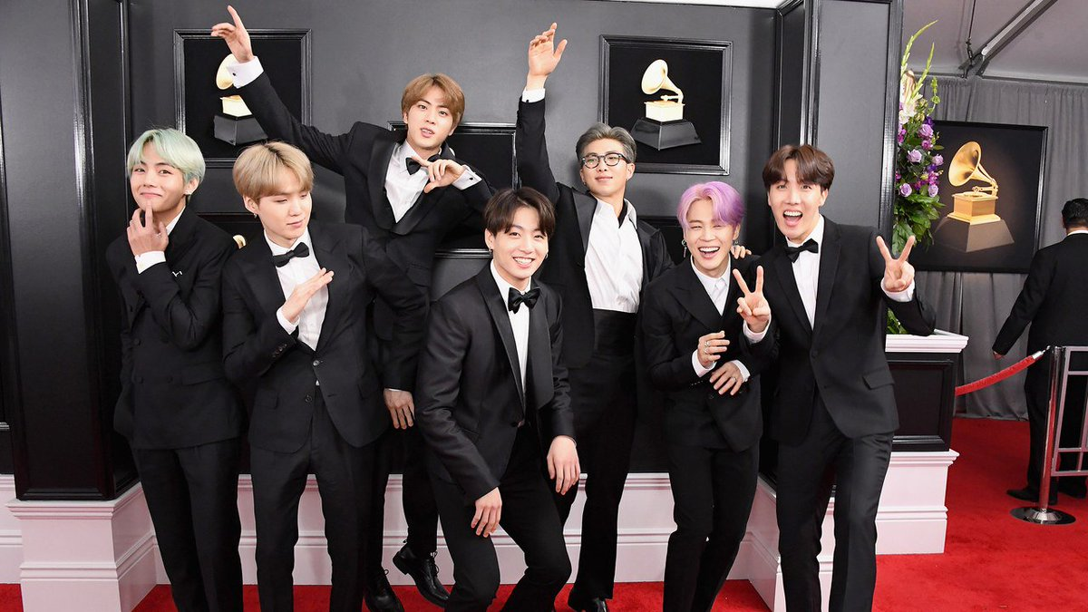 How @bts_twt showed Korean pride and won the #Grammys red carpet. https://t.co/cUdO1G8TZa
