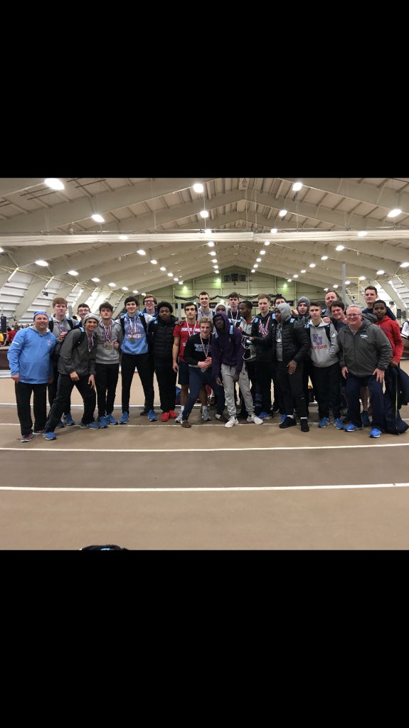 Today, @FJTRACKXC team competed at the PCL Indoor Track And Field Championship! The team finished in 4th Place overall and had some outstanding performances!