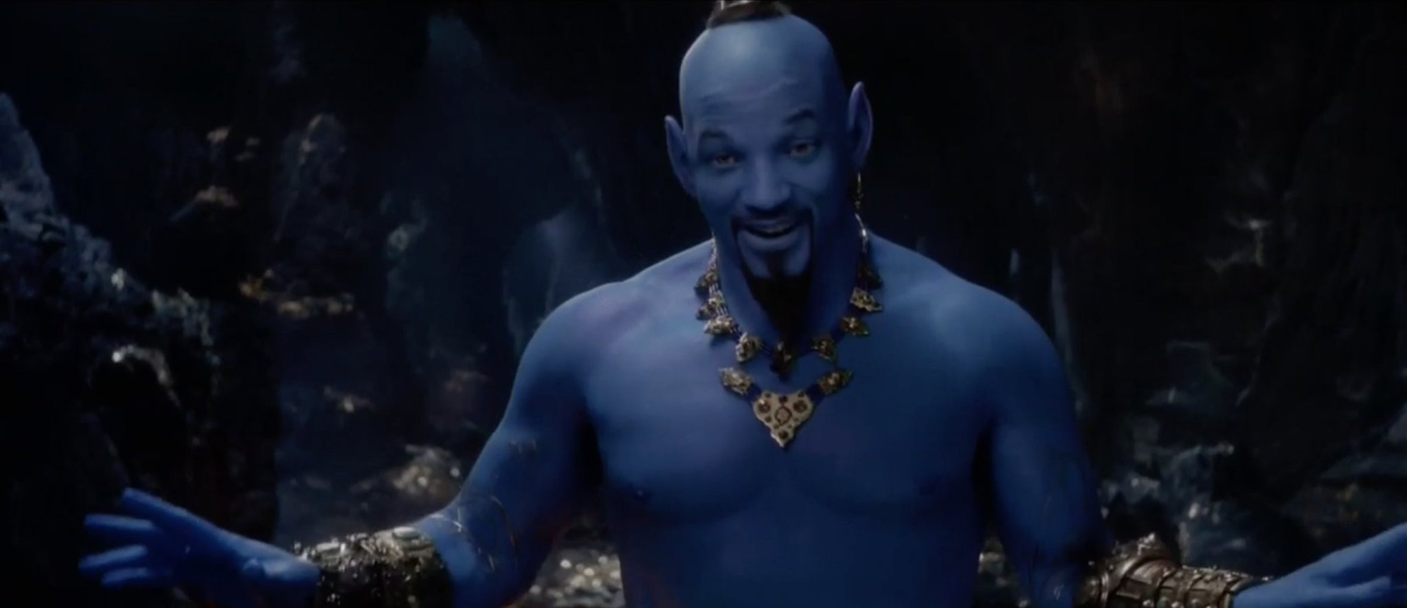 Disney's #Aladdin trailer gives the first look at Will Smith as Genie https://t.co/mOJAgNDPSY https://t.co/MxVtXvVFkG