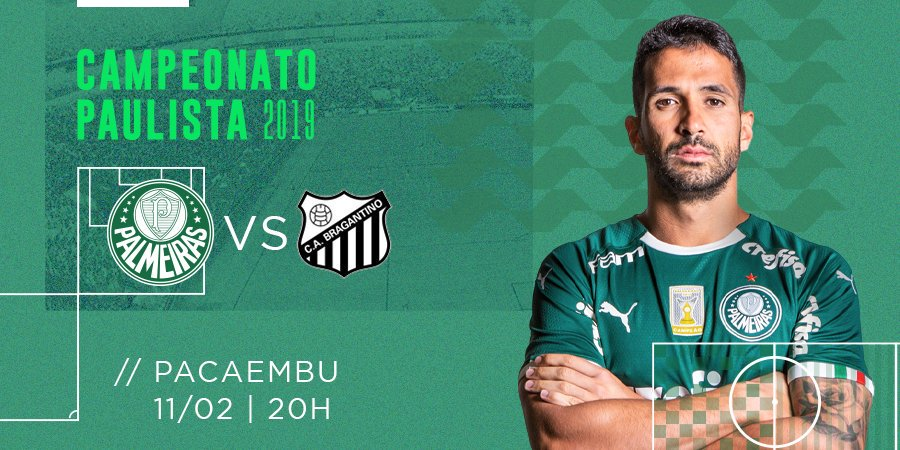 Amanhã tem #Palmeiras no #Pacaembu diante do Bragantino pelo #CampeonatoPaulista #AvantiPalestra #VerdãoDoBrasil #PalestraItalia #Alviverde #SabeSerBrasileiro #PALvsBRA #Paulistão2019
