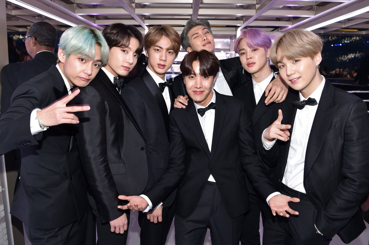 backstage baddies 🔥 These are the moments we live for at the #GRAMMYs #TearItUpBTS