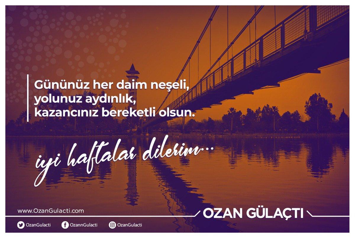 Ozan Gülaçtı's photo on #HayırlıHaftalar