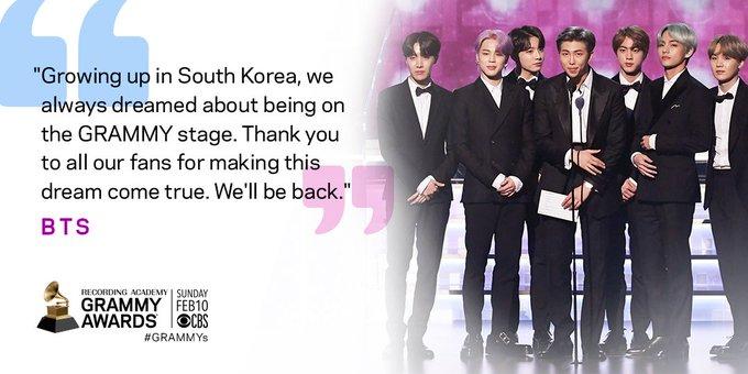 , Kerennya BTS Saat Naik Ke Atas Panggung Grammy Awards