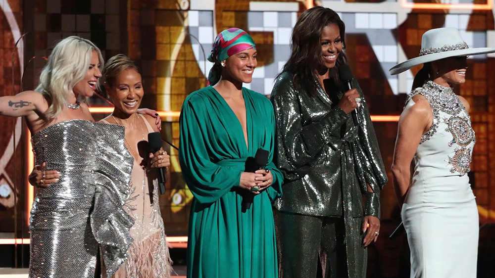 Michelle Obama made a surprise appearance at the #Grammys (Watch) https://t.co/A5XlUuCVMD