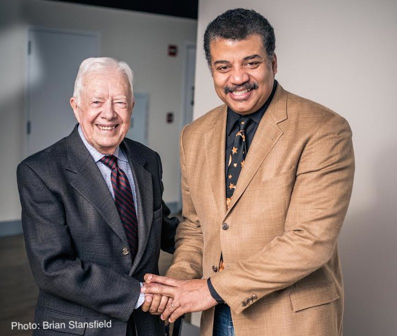 Congratulations to Jimmy Carter for Best Spoken Word at the #GRAMMYs — his THIRD!  In 2015, I spoke with President Carter on @StarTalkRadio about his heroic efforts to eradicate the Guinea Worm. [Audio: 50min]  https://t.co/vl1Zhb1xgd