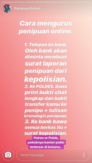 Marak Penipuan Online Via Instagram Cara Melapor Agar Uangmu Bisa