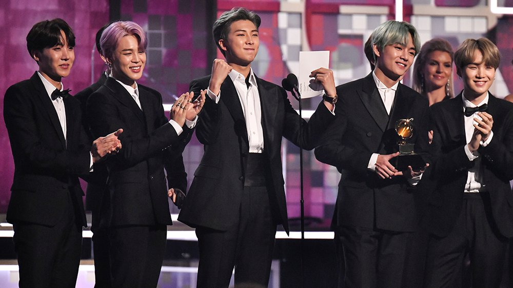 BTS were the first ever k-pop presenters at the #Grammys https://t.co/fBmttE3qMj https://t.co/Hir4I30fYE