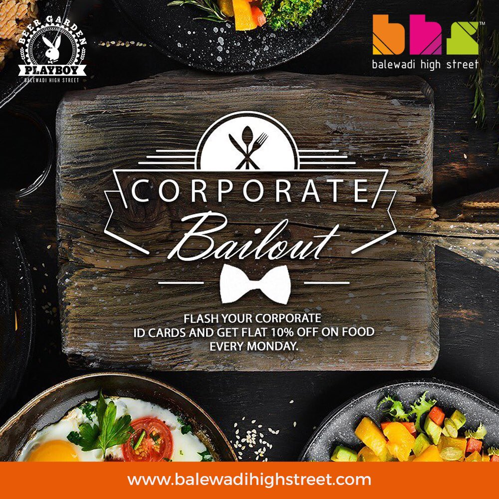 Let go off the work load & make your #Monday meetings a delicious business! Flash your corporate ids and avail 10% off! T&C Apply #PlayboyBeerGarden #playboy #InstaPune #PuneDiaries #India #Punekar #Puneri #yummy #Food #BHS #spoiltbychoice #lifeatbhs #worldcuisine #hangout #pune