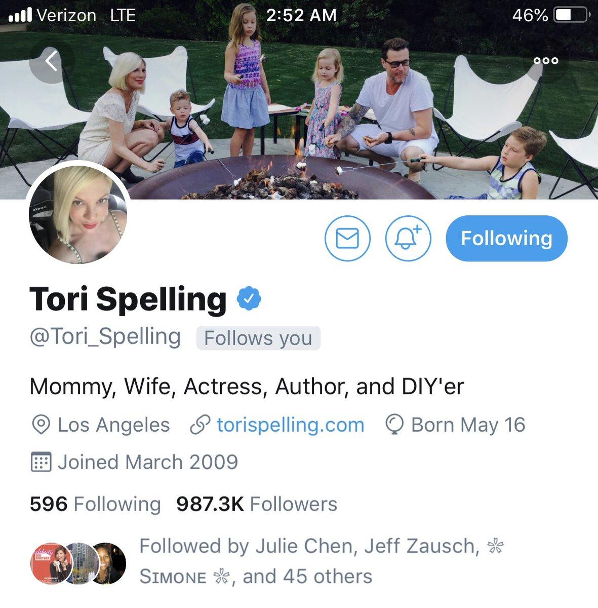 #MyTCDoesntKnowI was followed by Tori Spelling. <br>http://pic.twitter.com/y6RMkJUHTS
