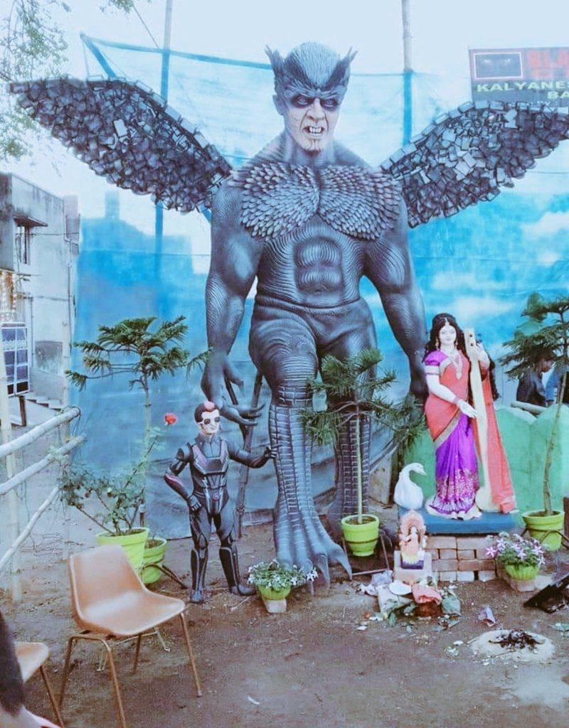 Really inspiring... #SaraswatiPuja @shankarshanmugh @akshaykumar #Rajnikanth sir. #robo2.0 #Telugu #tamil #hindi