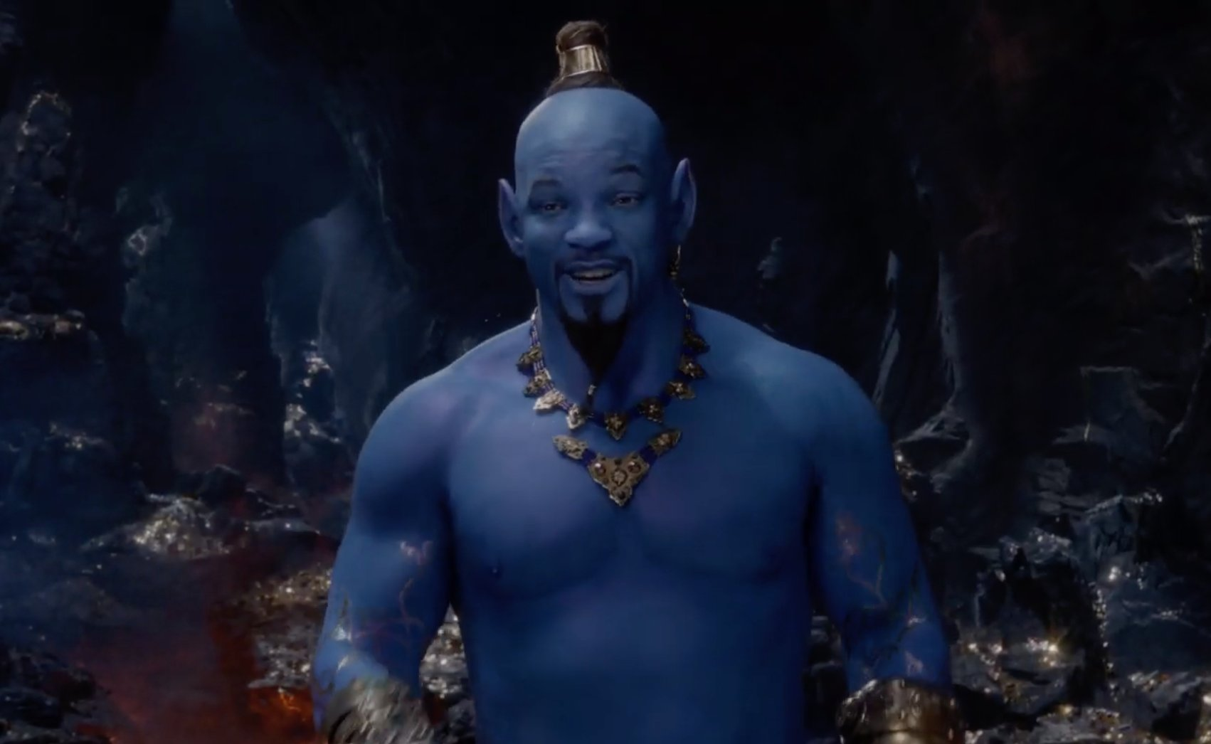 #Aladdin trailer offers first look at Will Smith's blue Genie https://t.co/AaPeJxe8ng https://t.co/mQHX1yCd0i