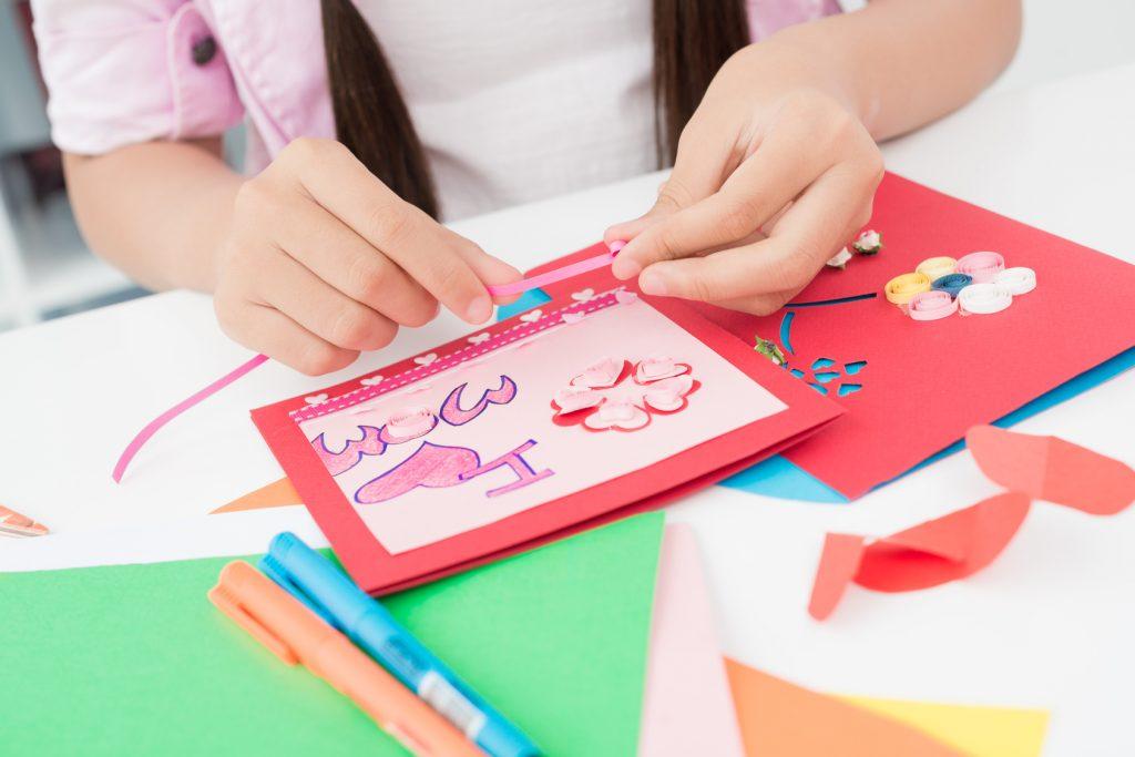 Рисунки, мастер-класс открытки для детей