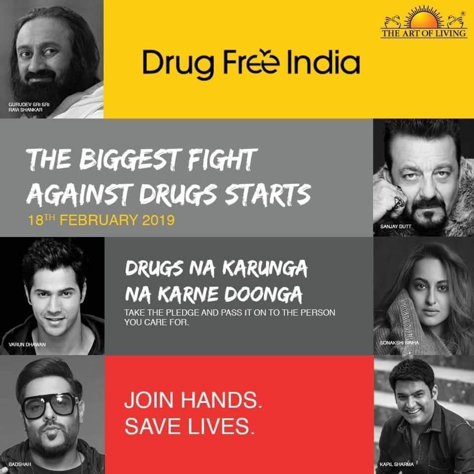 Lets join hands and pledge for #DrugsFreeIndia