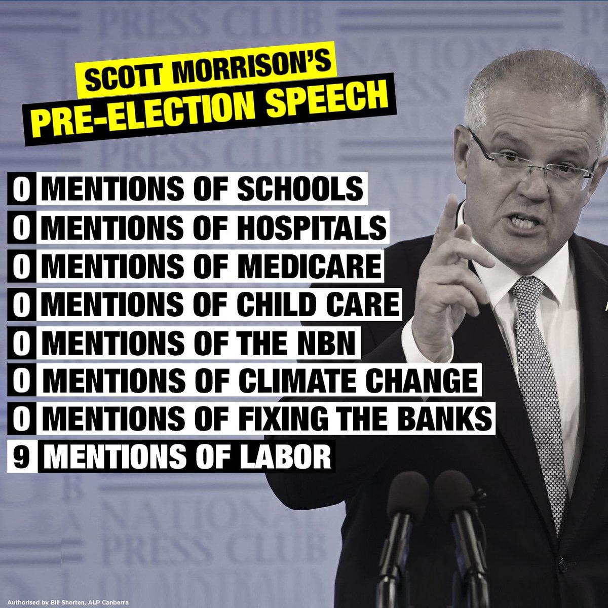 Australian Labor's photo on national press club