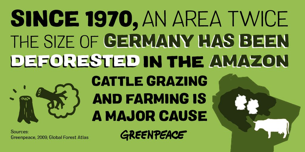 Greenpeace's photo on #MeatFreeMonday